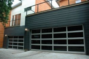 contemporary style glass garage door pewaukee wi